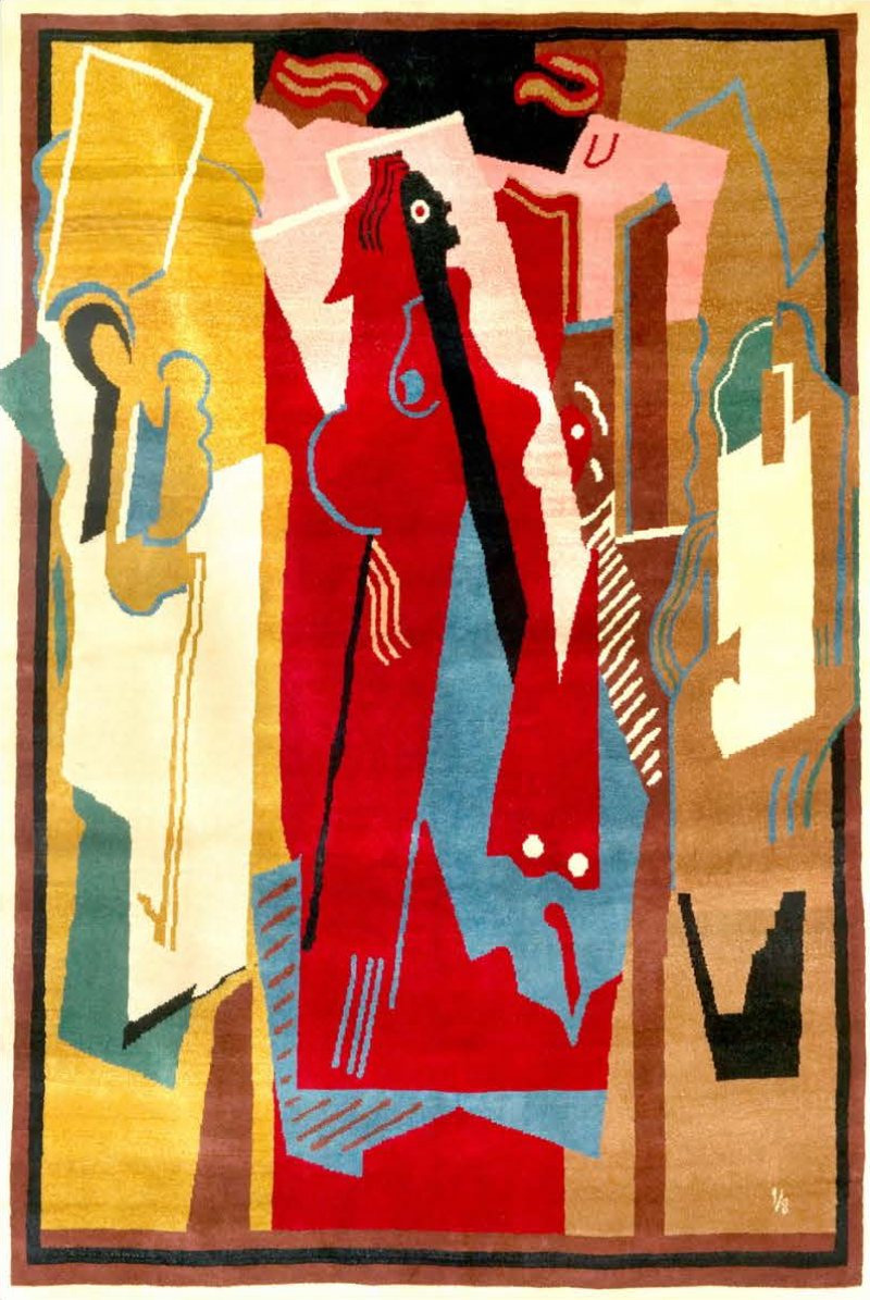 Albert Gleizes Limited edition artistic handmade wool rug after Albert Gleizes by Boccara N 34