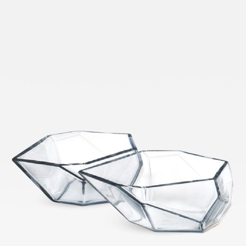 Alberto Dona Geometric Murano Glass Bowls by Alberto Dona