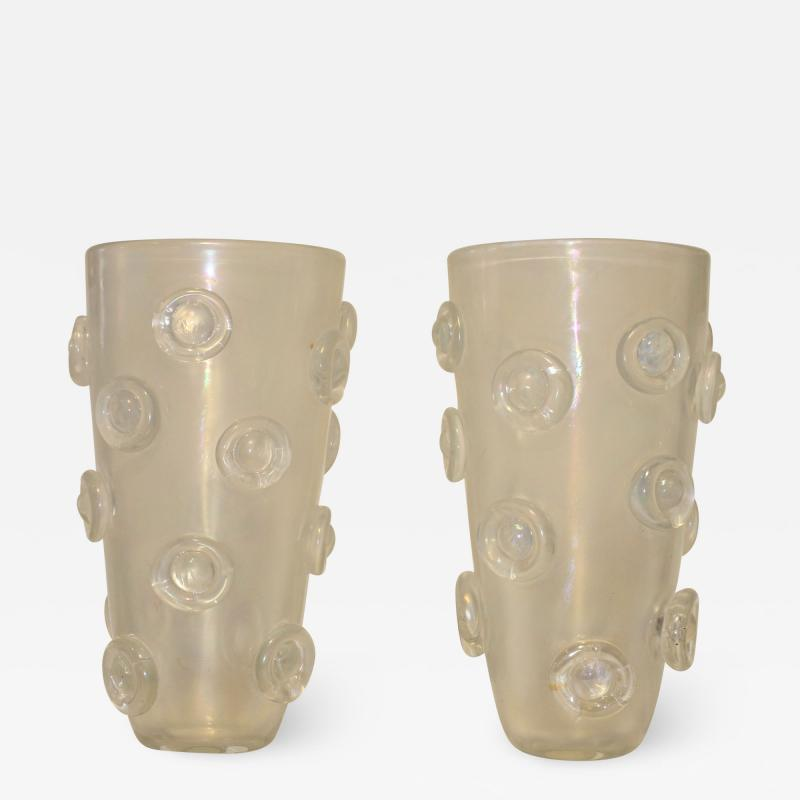 Alberto Dona Modernist Italian Murano Vases By Alberto Dona