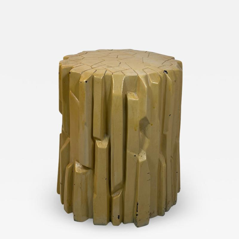 Alberto Giacometti MODERNIST ABSTRACT FACETED PLASTER TABLE IN THE MANNER OF GIACOMETTI