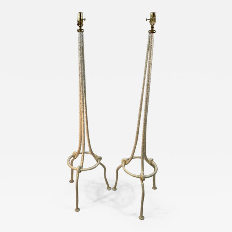 Alberto Giacometti PAIR OF WHITE BRUTALIST KNOT FLOOR LAMPS IN THE MANNER OF ALBERTO GIACOMETTI