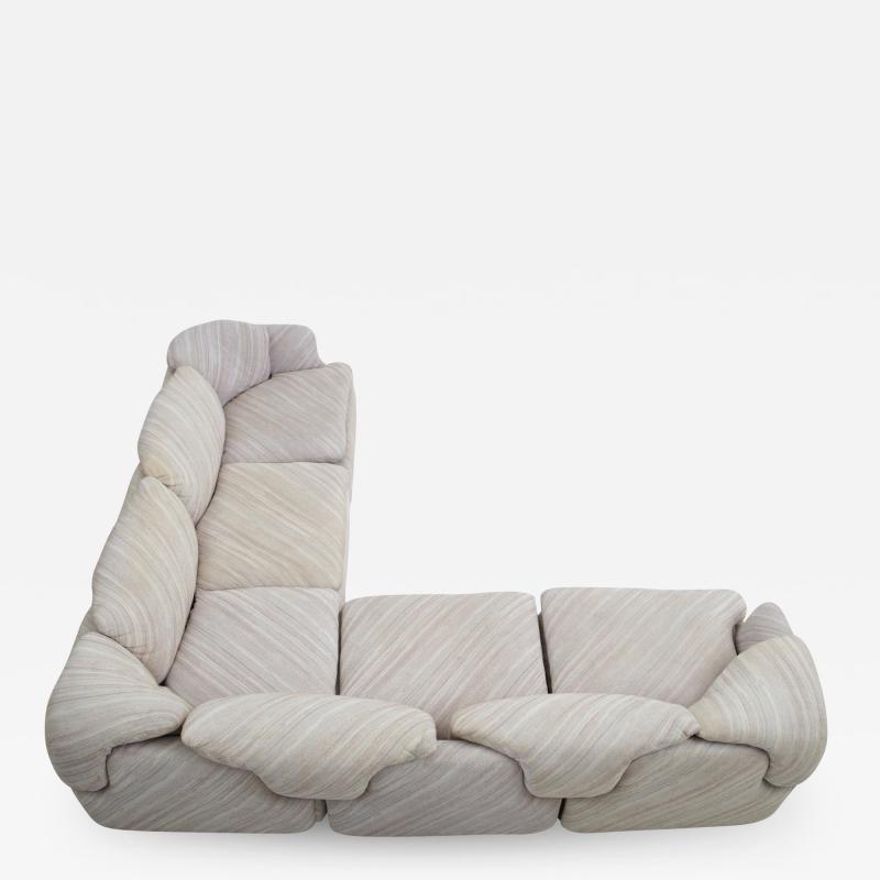 Alberto Rosselli Confidential Sectional Sofa by Alberto Rosselli for Saporiti Missoni Fabric