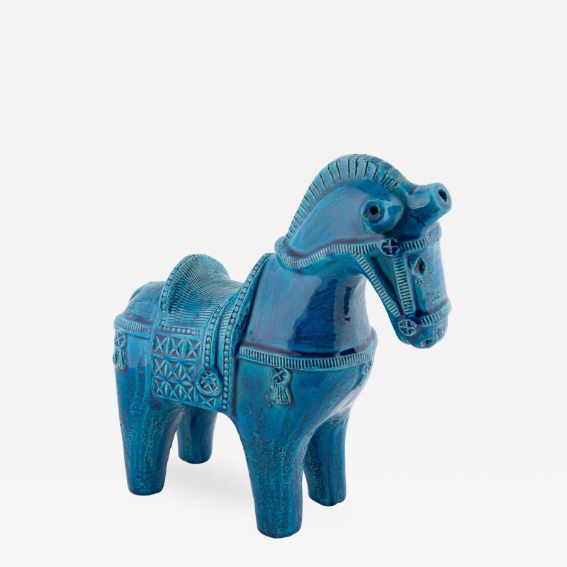 Aldo Londi Rimini Blu ceramic horse by Aldo Londi for Bitossi circa 1960s