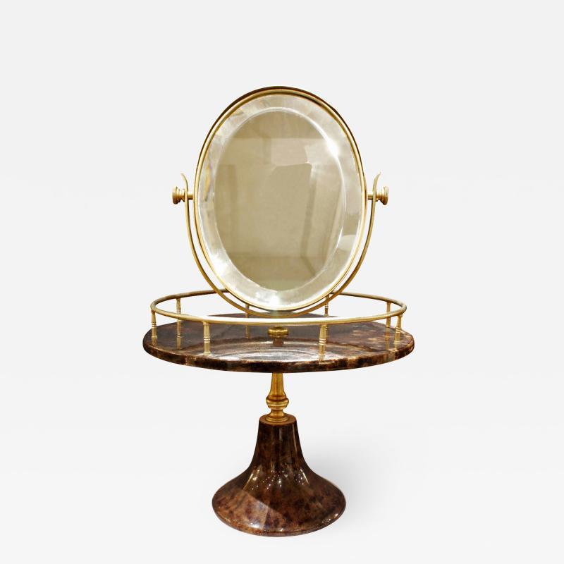 Aldo Tura Aldo Tura Adjustable Vanity Mirror in Lacquered Goatskin 1970s