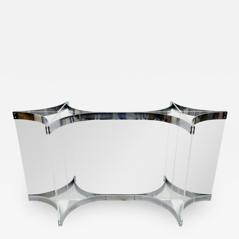 Alessandro Albrizzi Alessandro Albrizzi Dining Table Base Chrome Plated Steel And Lucite