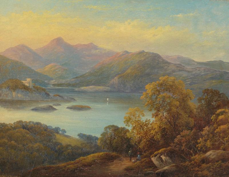 Alessandro Castelli 19th C Landscape Castelli Alessandro 1809 1902 Mountanious Landscape