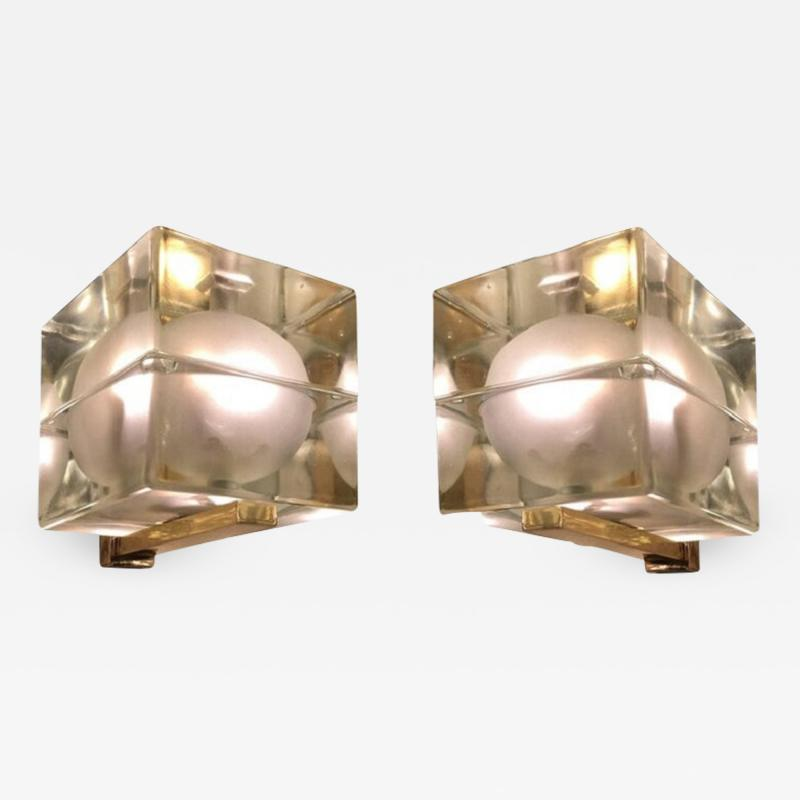 Alessandro Mendini Cubosfera Wall Lights by Alessandro Mendini Frosted Version