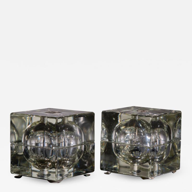 Alessandro Mendini Pair of Cubosfera Table Lamps by Alessandro Mendini