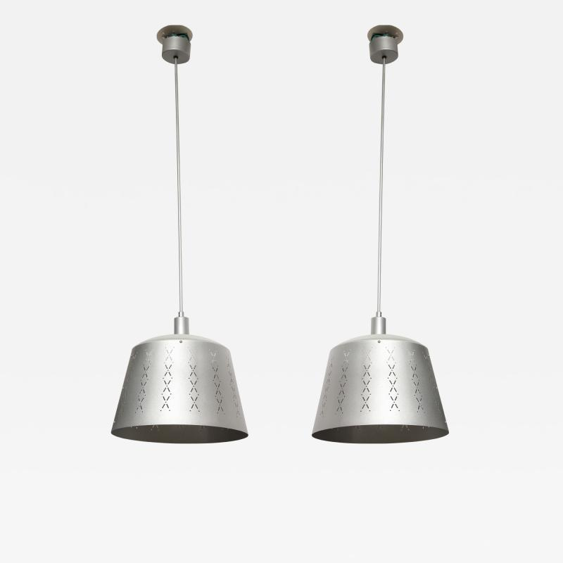 Alessandro Mendini Pair of Late 20th Century Stardust Silver Chandeliers Lucca and Co