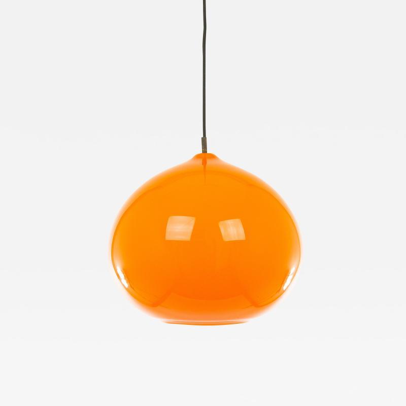 Alessandro Pianon Orange glass pendant L 51 by Alessandro Pianon for Vistosi 1960s