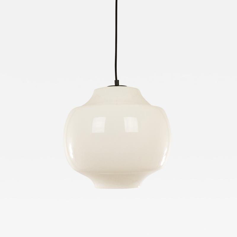 Alessandro Pianon White glass pendant by Alessandro Pianon for Vistosi 1960s