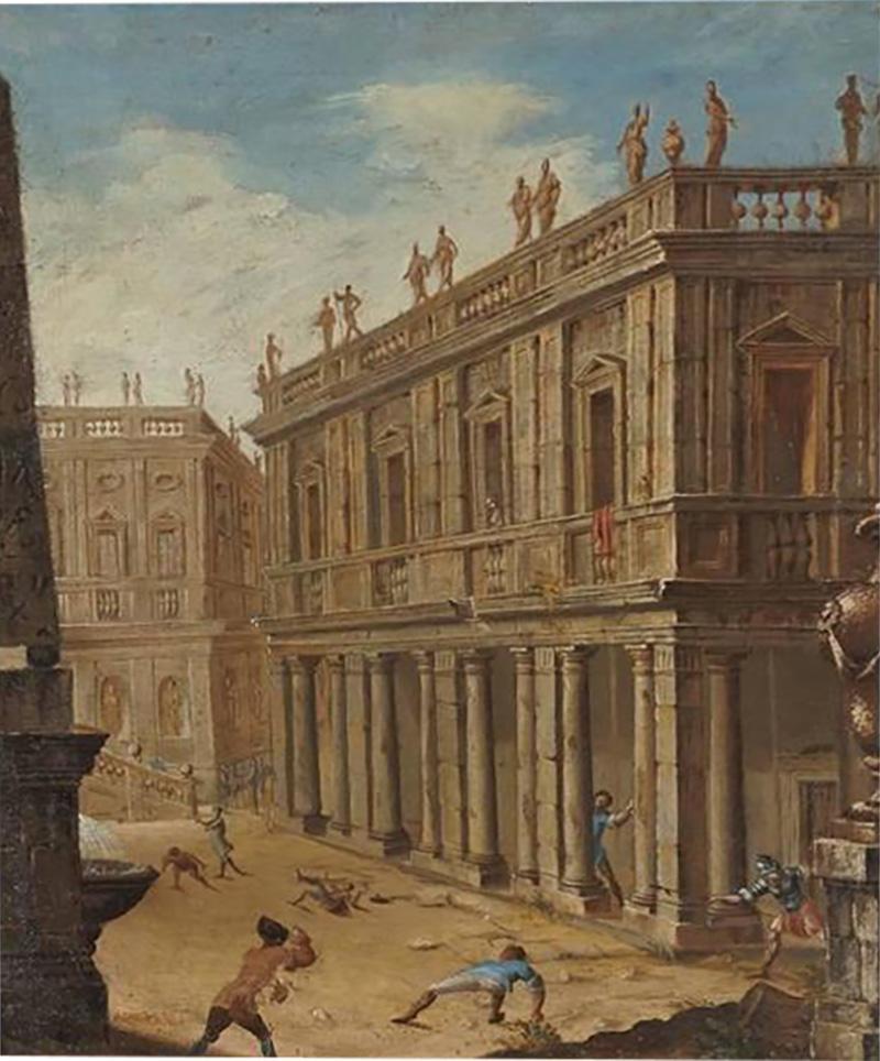 Alessandro Salucci Circle of Alessandro Salucci Italian Oil on Canvas