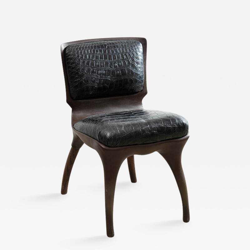 Alex Roskin Alex Roskin Tusk Chair in Aluminum with Bronze Finish USA