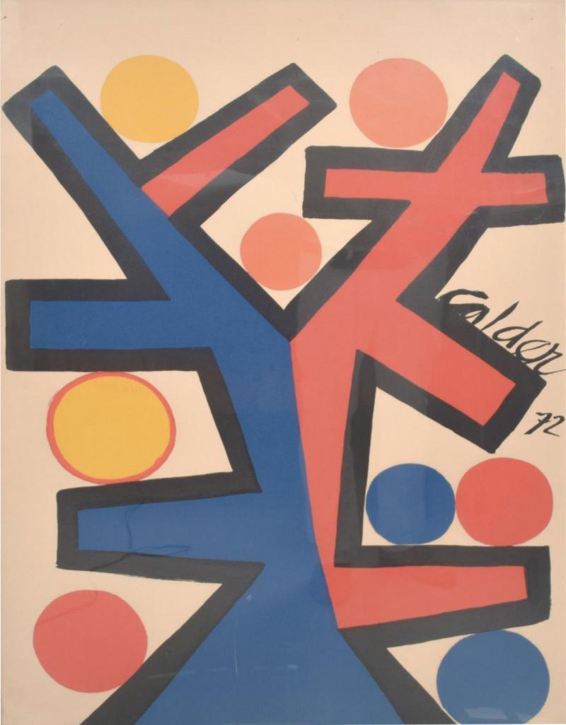 Alexander Calder Abstract Asymetrie Tree Lithograph by Alexander CALDER Calder 72