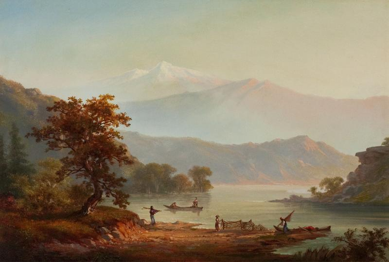 Alexander Francois Loemans Fishing Along the Shore