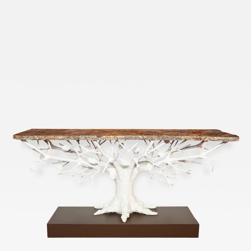 Alexandre Log Arbre Sculptural Console Table by Alexandre Log