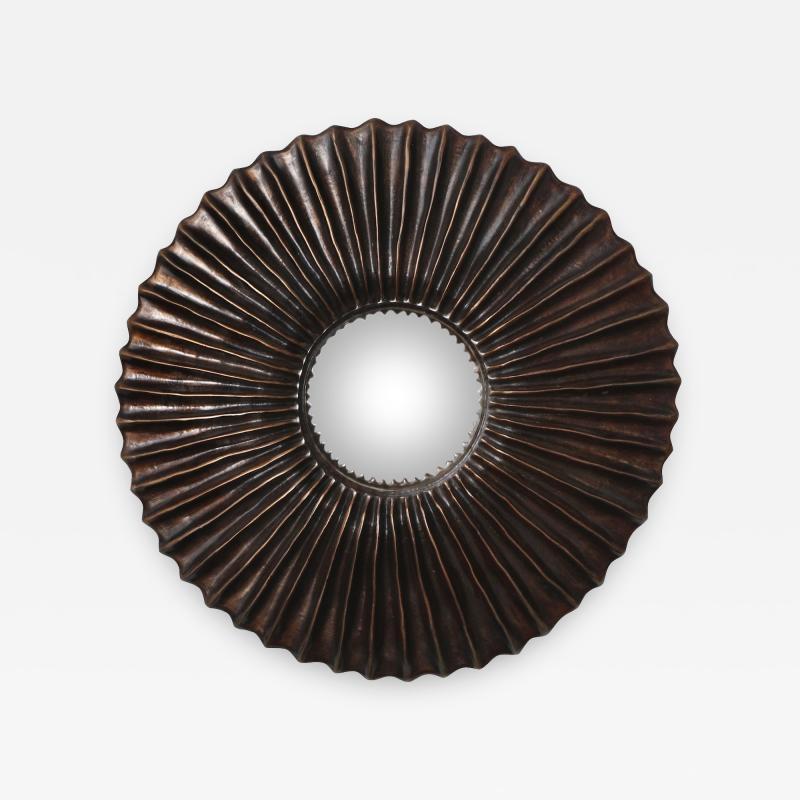 Alexandre Log Zelo Studio Built Bronze Wall Mirror by Alexandre Log