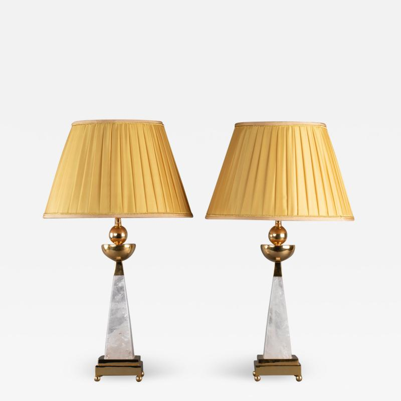 Alexandre Vossion AIKO 2 Pair of Rock Crystal lamp