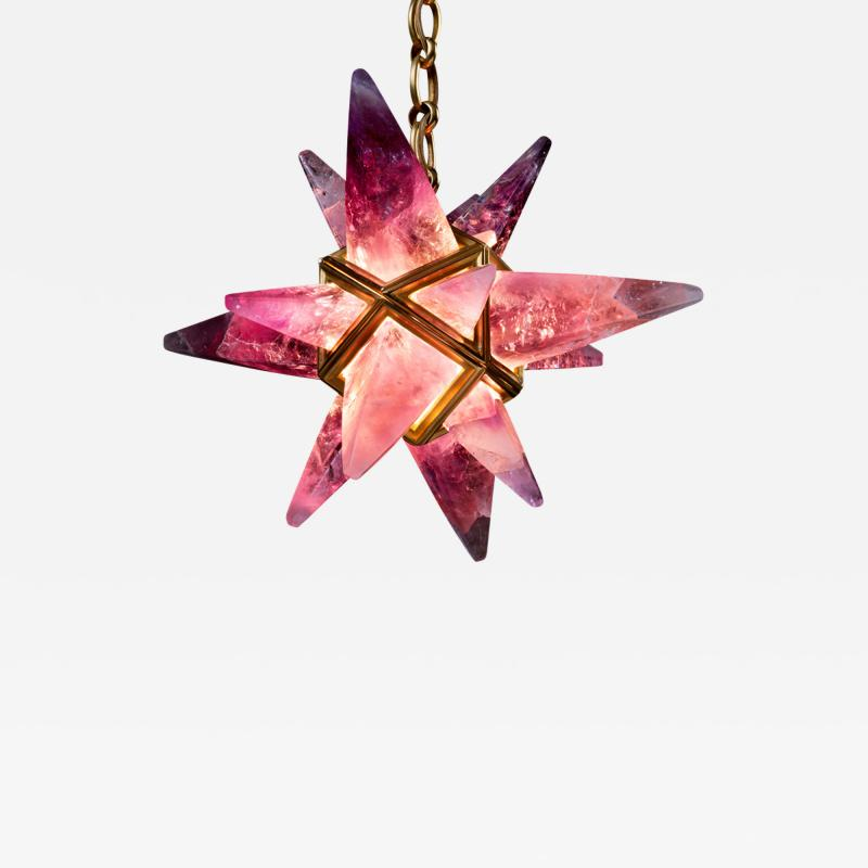 Alexandre Vossion AMETHYST STAR III CHANDELIER GOLD EDITION
