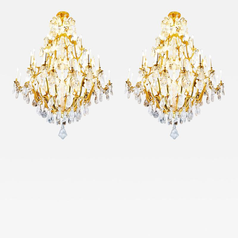 Alexandre Vossion Biggest Pair Of Rock Crystal Lightings in the World By Alexandre VOSSION