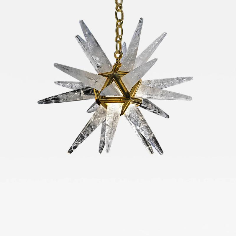 Alexandre Vossion Rock Crystal Star III Chandelier by Alexandre Vossion