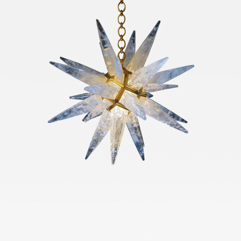 Alexandre Vossion Rock crystal STAR I chandelier gold edition