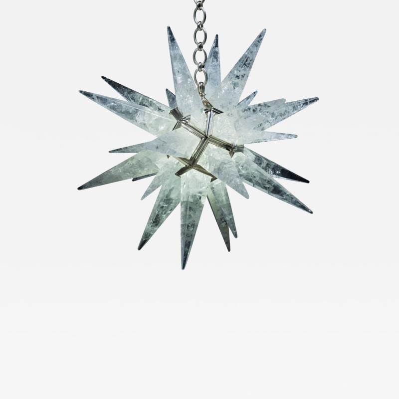 Alexandre Vossion Rock crystal STAR I chandelier nickel edition