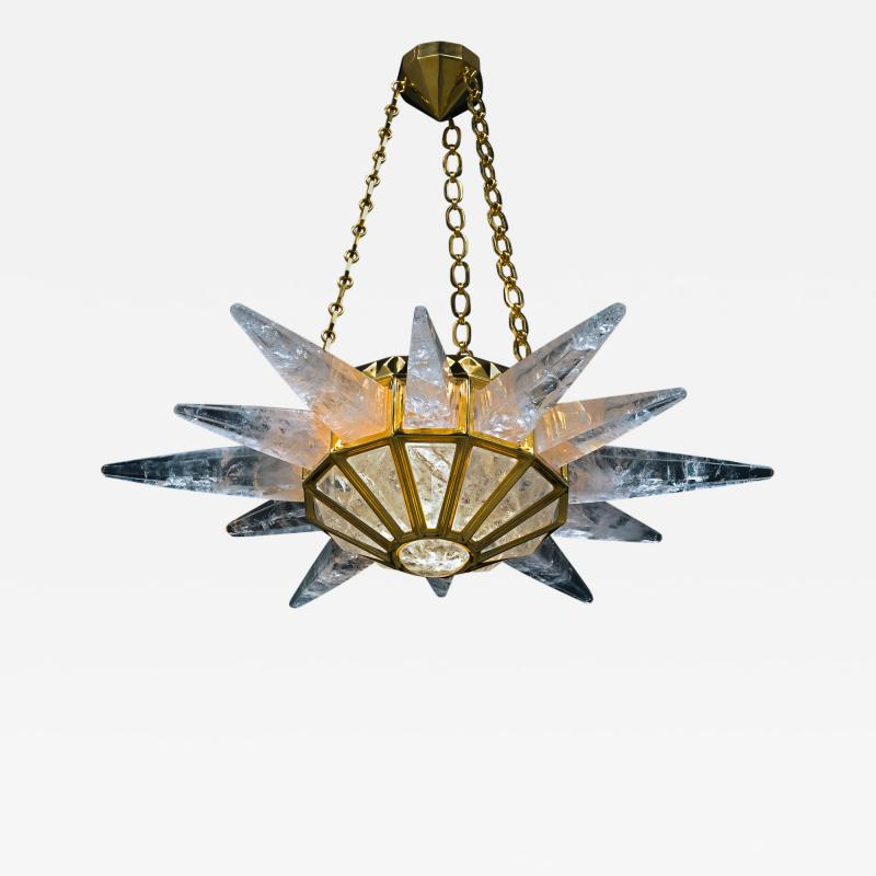 Alexandre Vossion Rock crystal SUNSHINE II lighting MODEL GOLD edition