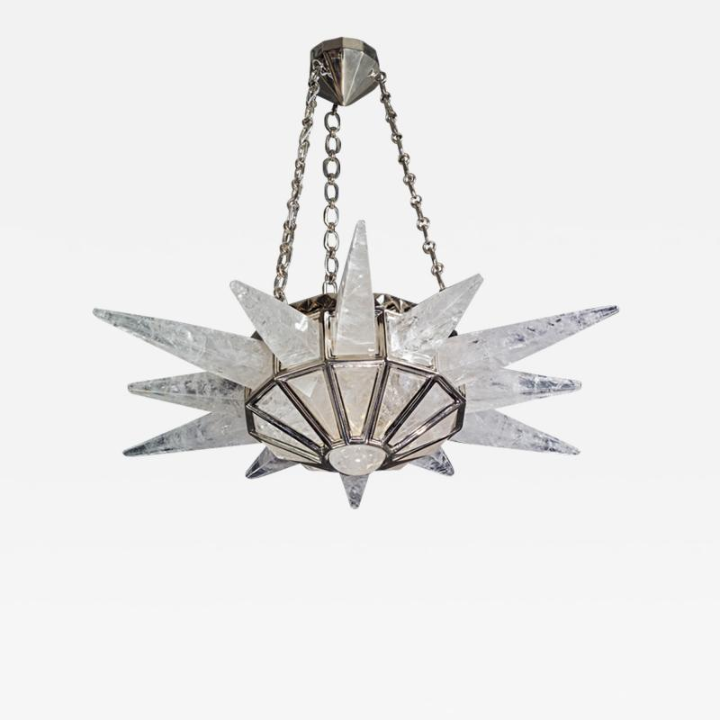 Alexandre Vossion Rock crystal SUNSHINE II lighting MODEL Nickel edition