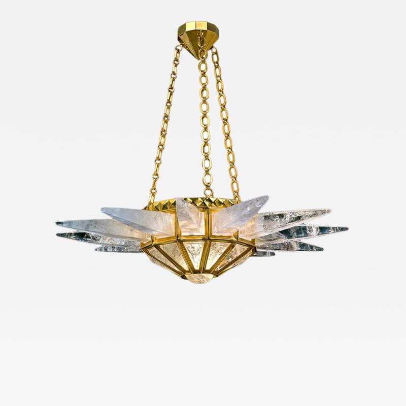 Alexandre Vossion Rock crystal chandelier