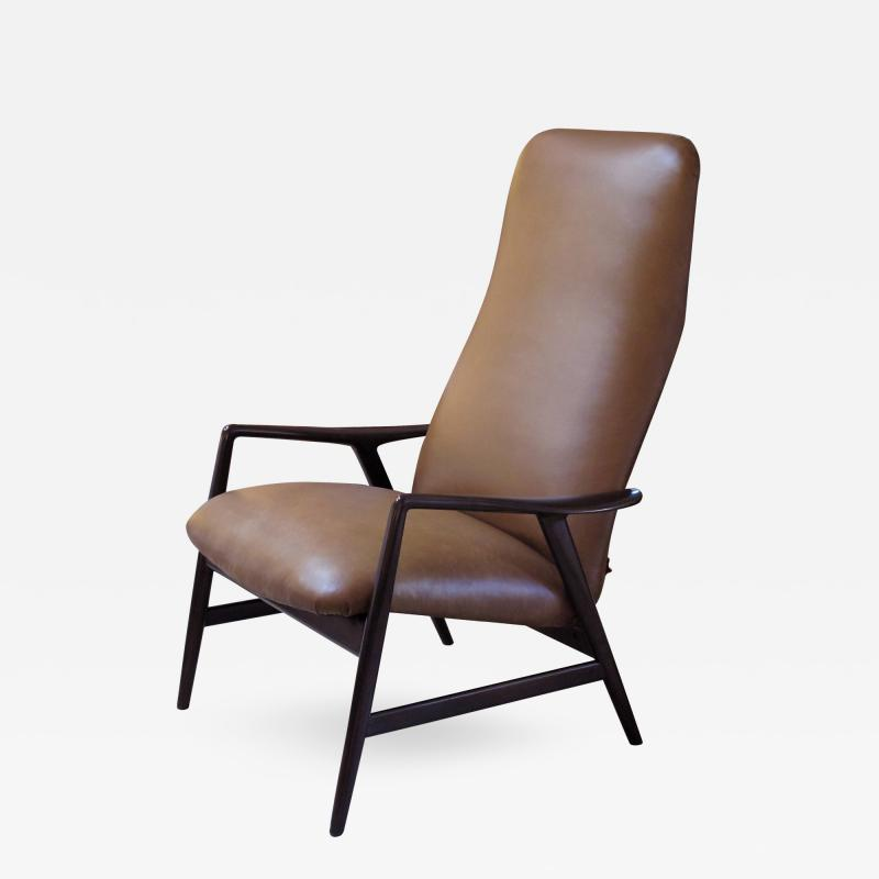 Alf Svensson A Danish Modern Alf Svensson for Fritz Hansen Reclining Lounge Chair