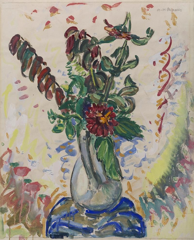 Alfred Henry Maurer Flowers in a White Pitcher