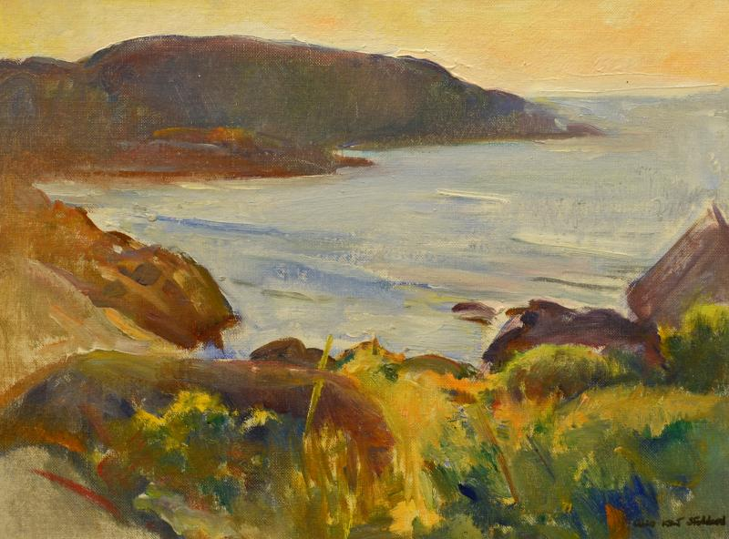 Alice Kent Stoddard Late August Monhegan View from the WikWak