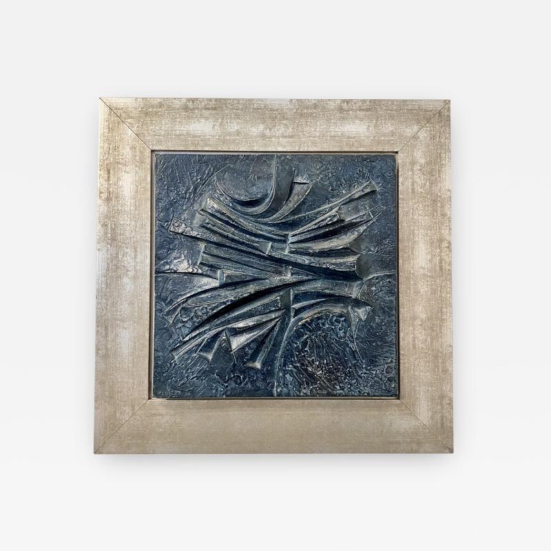 Alicia Penalba Stunning Bas relief by Alicia Penalba in metal alloy