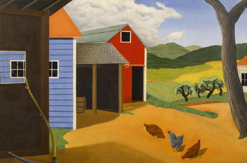 Allan Gould American Farm Woodstock 1930