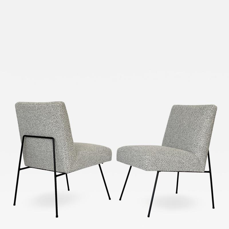 Allan Gould Pair of Allan Gould Style Iron Frame Lounge Chairs