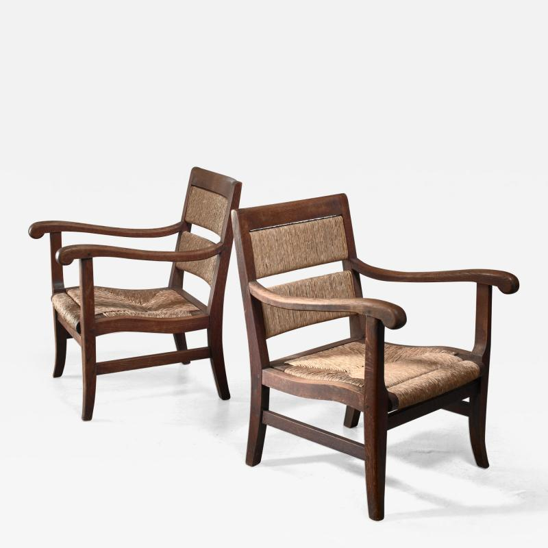 Alphons Fons Siebens Pair of Arts Crafts armchairs circa 1915