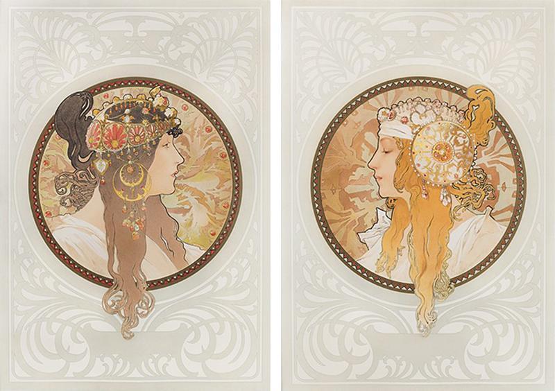 Alphonse Maria Mucha Byzantine Heads Lithographs by Alphonse Mucha