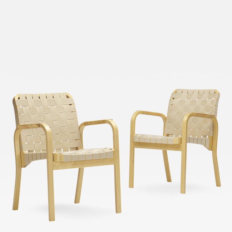 Alvar Aalto armchairs model 45 pair
