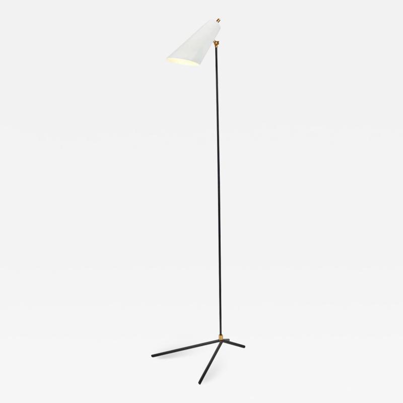 Alvaro Benitez Lucy Floor Lamp in Brass and Metal by Alvaro Benitez