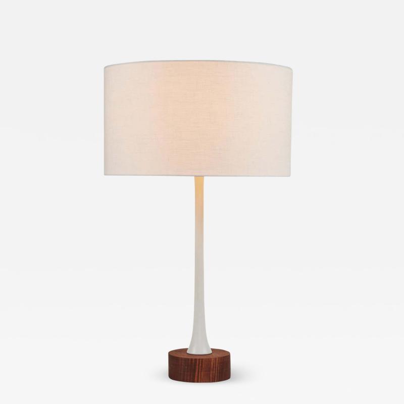 Alvaro Benitez Sofi Metal and Wood Table Lamp by Alvaro Benitez