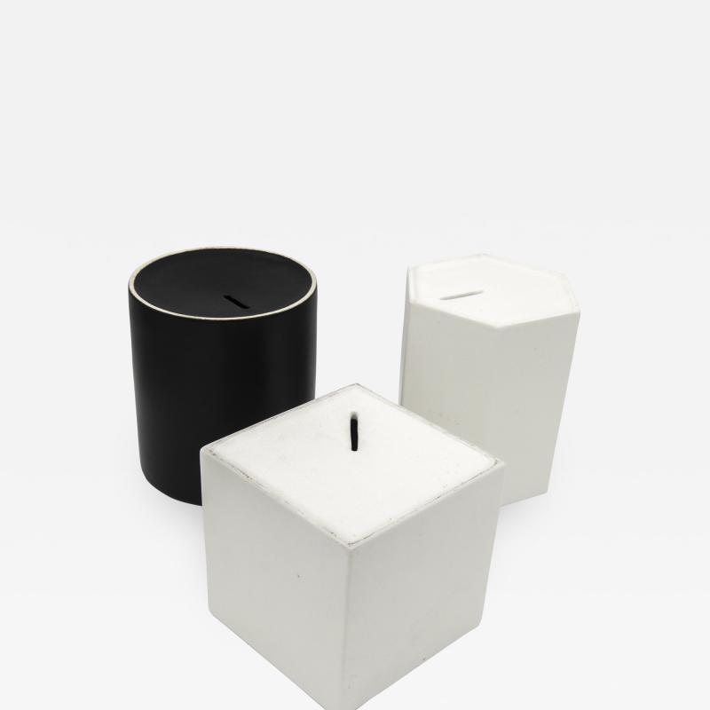 Ambrogio Pozzi Ceramic Moneyboxes or Contenitori per Desideri 1966