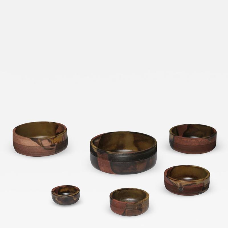 Ambrogio Pozzi Set of Nesting Ceramic Bowls by Ambrogio Pozzi for Ceramiche Pozzi