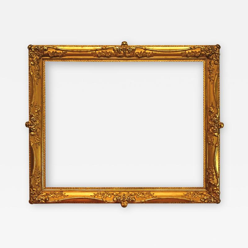 American 1890 Gilded Gesso Picture Frame 31x38