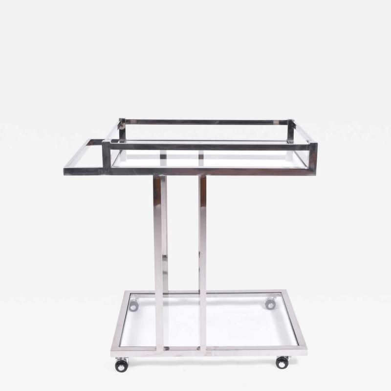American 1970s chrome drinks serving trolley