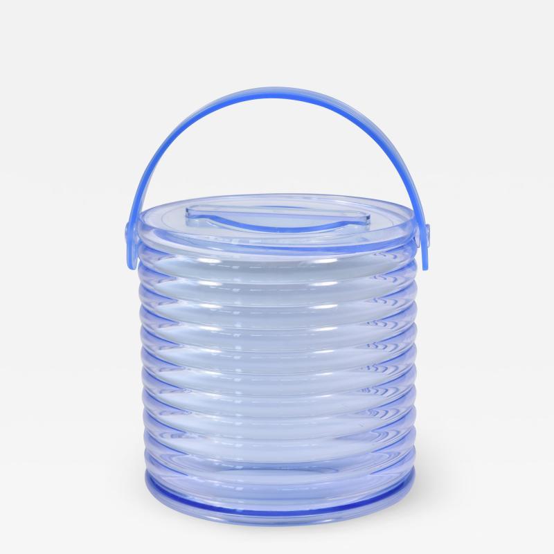 American 1970s purple Lucite ice bucket