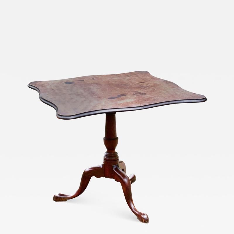 American Chippendale Mahogany Tilt Top Antique Tea Table Circa 1780