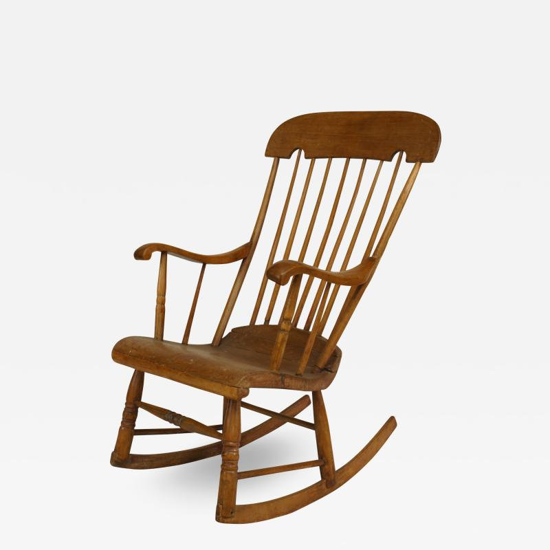 American Country Pine Rocking Chair