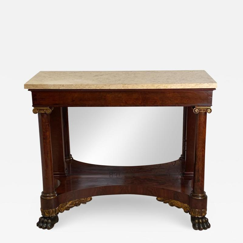 American Empire Mahogany Console Table Circa 1830