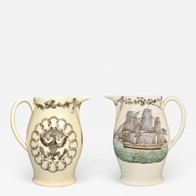 American Ship Jug with Fifteen State Ring design with Eagle on reverse